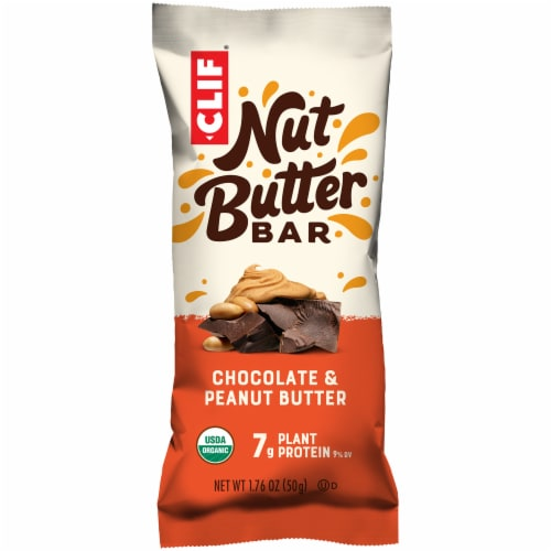 Clif Nut Butter Chocolate & Peanut Butter Energy Bar Perspective: front