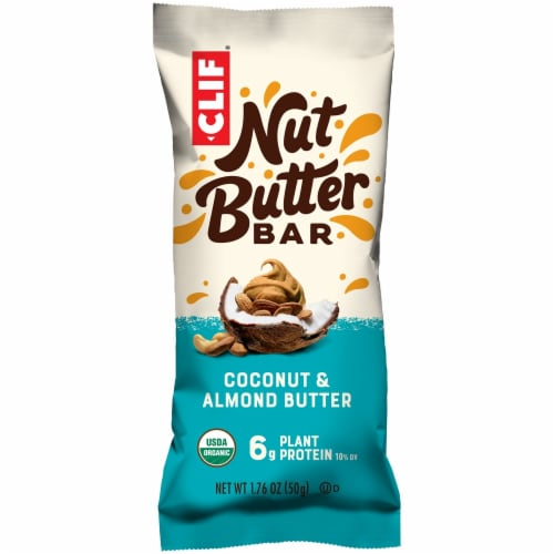 Clif Nut Butter Coconut & Almond Butter Energy Bar Perspective: front