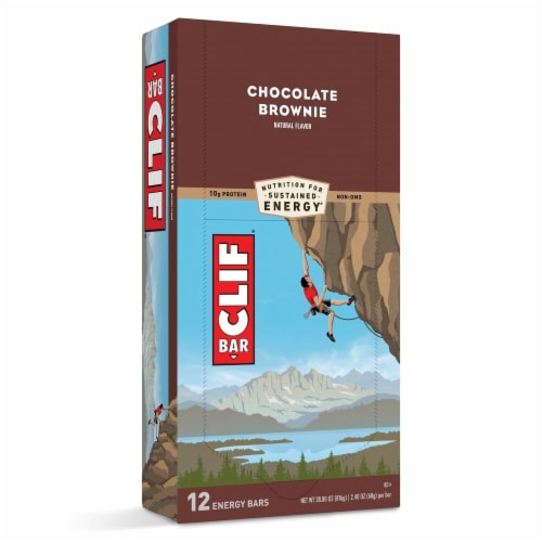 Clif Bar Chocolate Brownie Energy Bars 12 Count Perspective: front