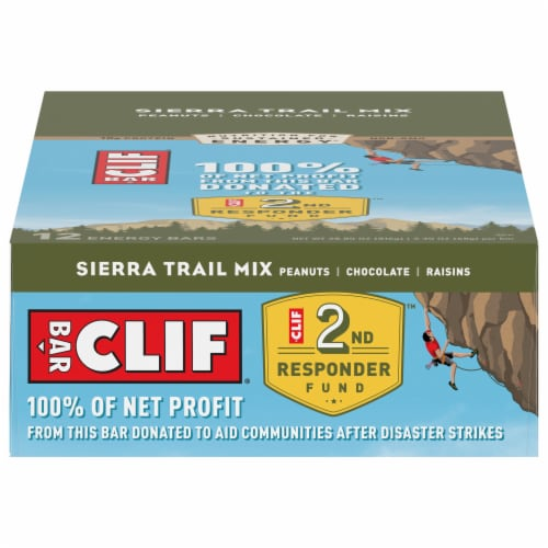 Clif Bar Sierra Trail Mix Energy Bars Perspective: front