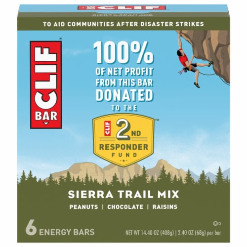 Clif Bar® Sierra Trail Mix Energy Bars Perspective: front