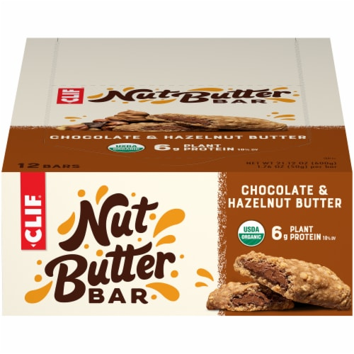 Clif Bar Nut Butter Filled Chocolate & Hazelnut Butter Bars Perspective: front