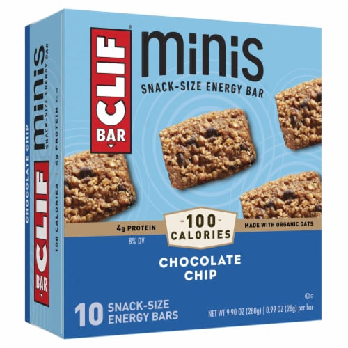 Clif Bar Mini Chocolate Chip Energy Bars Perspective: front