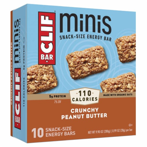 Clif Bar Minis Crunchy Peanut Butter Energy Bars Perspective: front