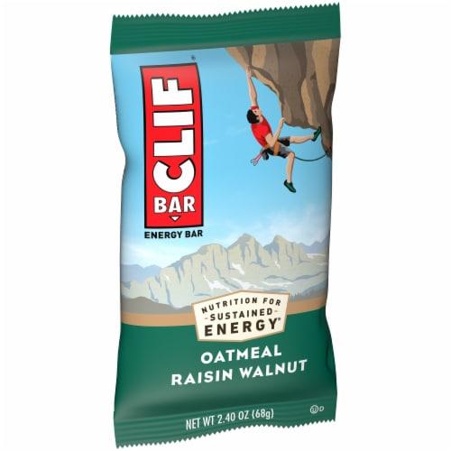 Clif Bar Oatmeal Raisin Walnut Energy Bar Perspective: front