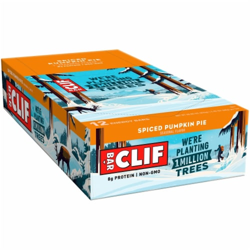 Clif Bar Spiced Pumpkin Pie Energy Bars Perspective: front
