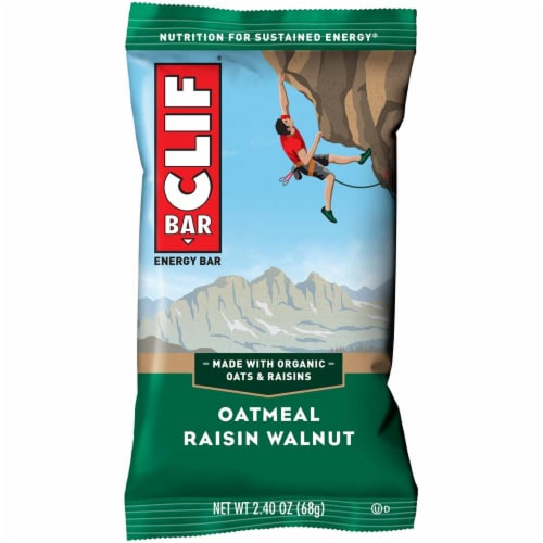 Clif Oatmeal Walnut Raisin Snack Bar, 2.4 Ounce -- 192 per case. Perspective: front