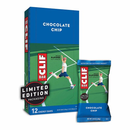 Clif Chocolate Chip Snacks Bar, 2.4 Ounce -- 192 per case. Perspective: front