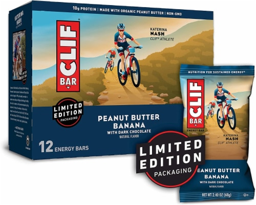 Clif Crunchy Peanut Butter Snack Bar, 2.4 Ounce -- 192 per case. Perspective: front