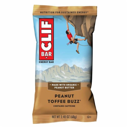 Clif Peanut Toffee Buzz Snack Bar, 2.4 Ounce -- 192 per case. Perspective: front