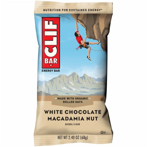 Clif White Chocolate Macadamia Snack Bar, 2.4 Ounce -- 192 per case. Perspective: front