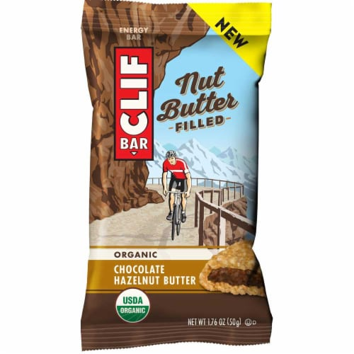 Clif Nut Butter Filled Chocolate Hazelnut Butter Energy Bar, 1.76 Ounce -- 144 per case. Perspective: front