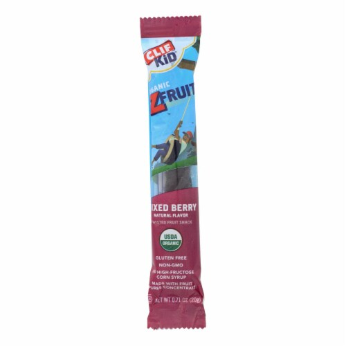 Clif Bar Kid Zfruit - Organic Mix Berry - Case of 18 - .7 oz Perspective: front