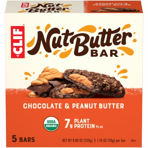 Clif Bar Nut Butter Filled Chocolate & Peanut Butter Energy Bars Perspective: front