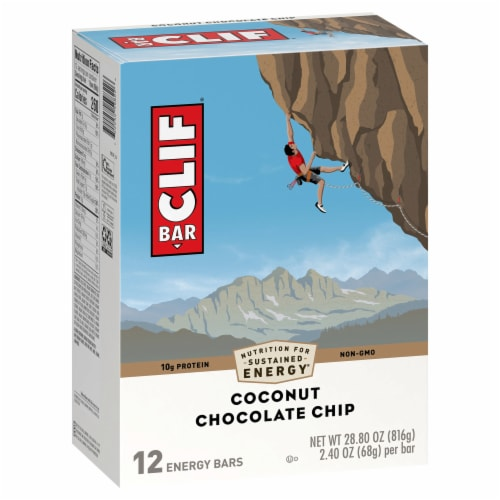 Clif Bar Coconut Chocolate Chip Energy Bars Perspective: front