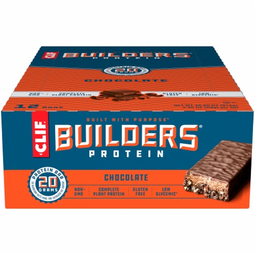 Clif Bar Builders Chocolate Protein Meal Bars Perspective: front