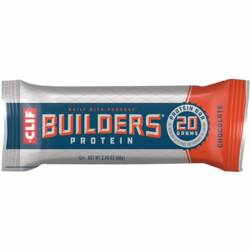 Clif Bar Builders Chocolate Protein Bar Perspective: front