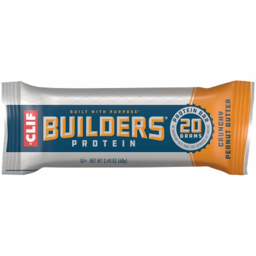 Clif Builders Crunchy Peanut Butter Protein Meal Bar Perspective: front