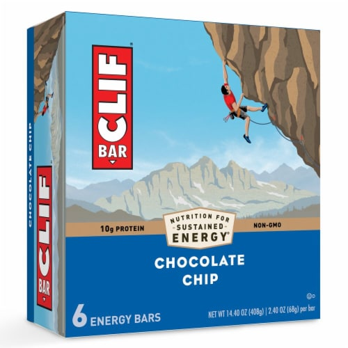 Clif Bar Chocolate Chip Energy Bars Perspective: front