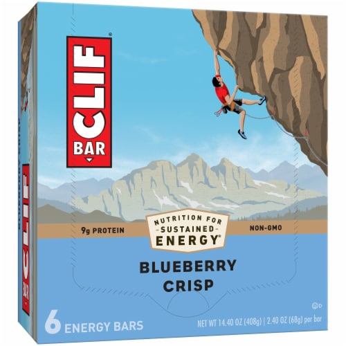 Clif Bar Blueberry Crisp Energy Bars Perspective: front