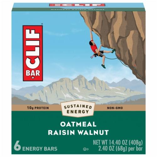 Clif Bar Oatmeal Raisin Walnut Energy Bars Perspective: front