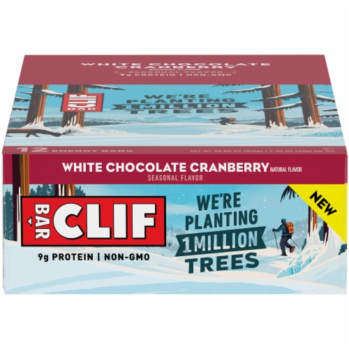 Clif White Chocolate Cranberry Bar Perspective: front