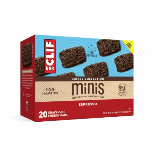 Clif Bar Coffee Collection Espresso Mini Energy Bars Perspective: front