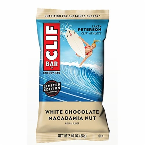 Clif White Chocolate Macadamia Nut Energy Bar, 2.4 Ounce -- 54 per case. Perspective: front