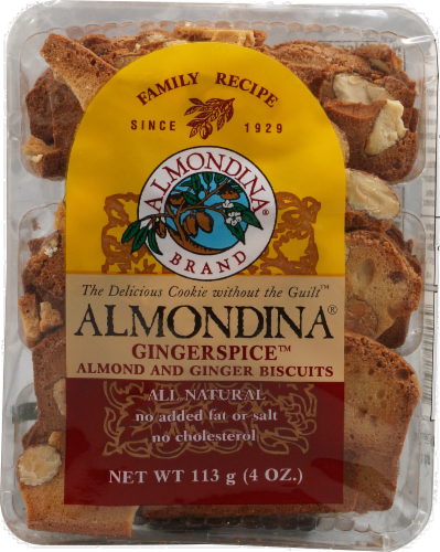 Almondina Biscuits Almond and Ginger Perspective: front