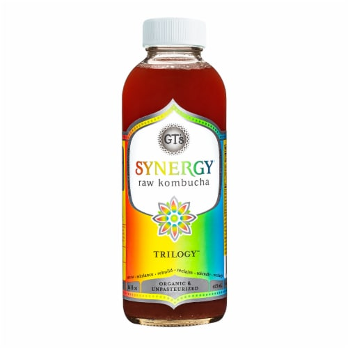 GT's Living Foods Synergy Organic Trilogy Kombucha Perspective: front