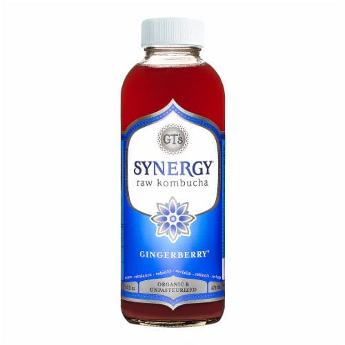 GT's Living Foods Synergy Organic Gingerberry Kombucha Perspective: front