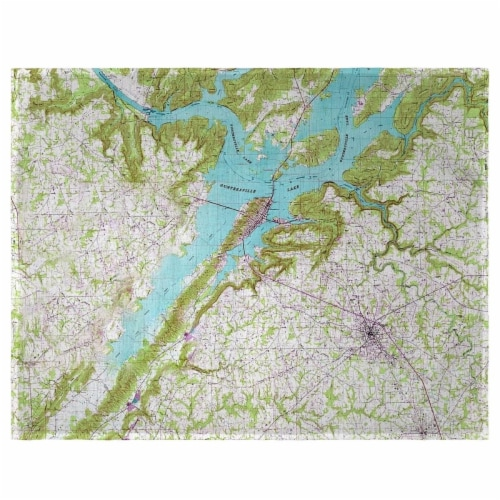 Betsy Drake PM611 Lake Guntersville, AL Nautical Map Place Mat - Set of 4 Perspective: front