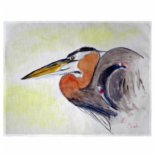 Betsy Drake PM719 Heron Portrait Place Mat - Set of 4 Perspective: front