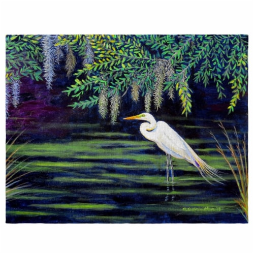 Betsy Drake PM751 Egret Lagoon Place Mat - Set of 4 Perspective: front