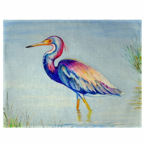 Betsy Drake PM756 Tri-Colored Heron Place Mat - Set of 4 Perspective: front