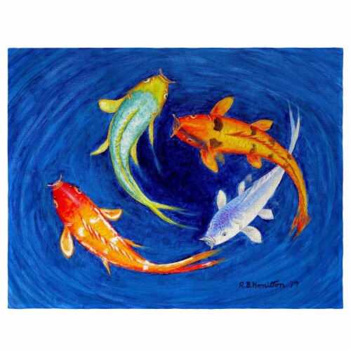 Betsy Drake PM857 Swirling Koi Place Mat - Set of 4 Perspective: front