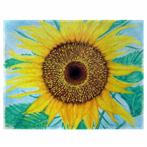 Betsy Drake PM1003 Dicks Sunflower Place Mat - Set of 4 Perspective: front