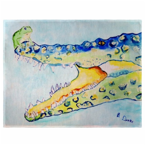 Betsy Drake PM1004 Crocodile & Frog Place Mat - Set of 4 Perspective: front