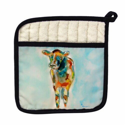 Betsy Drake Betsys Cow Pot Holder Perspective: front