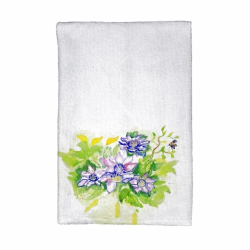 Betsy Drake KT284 Clematis Kitchen Towel Perspective: front