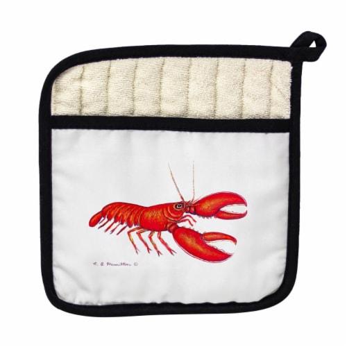 Betsy Drake PT081R Red Lobster Pot Holder Perspective: front