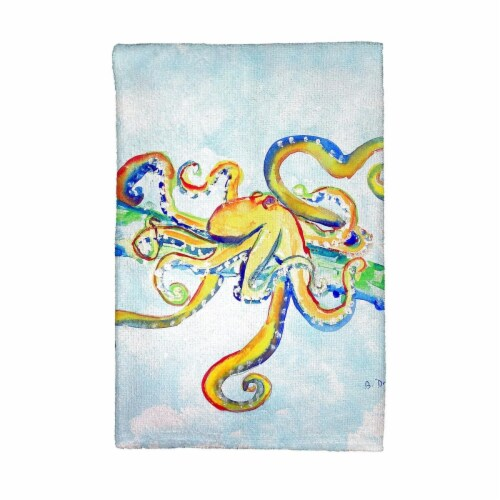 Betsy Drake KT637 Crazy Octopus Kitchen Towel Perspective: front