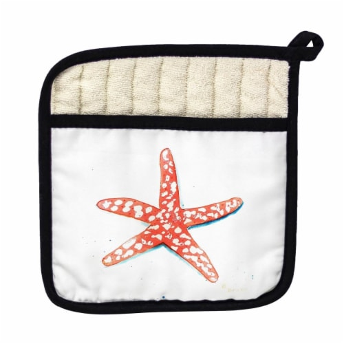 Betsy Drake Coral Starfish Pot Holder Perspective: front