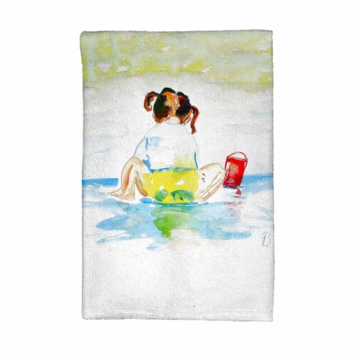 Betsy Drake KT729 Pigtails Playing Kitchen Towel Perspective: front