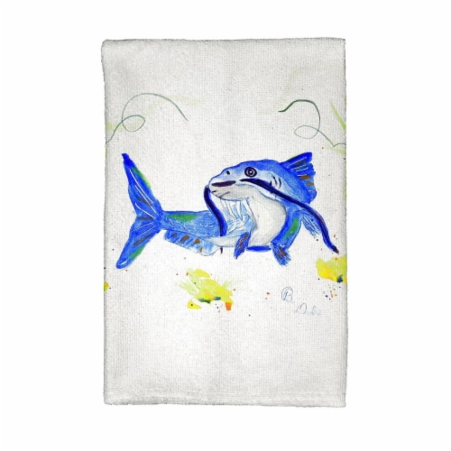 Betsy Drake KT741 Betsys Catfish Kitchen Towel Perspective: front