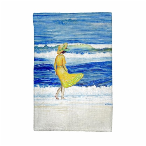 Betsy Drake KT889 Rough Surf Kitchen Towel Perspective: front