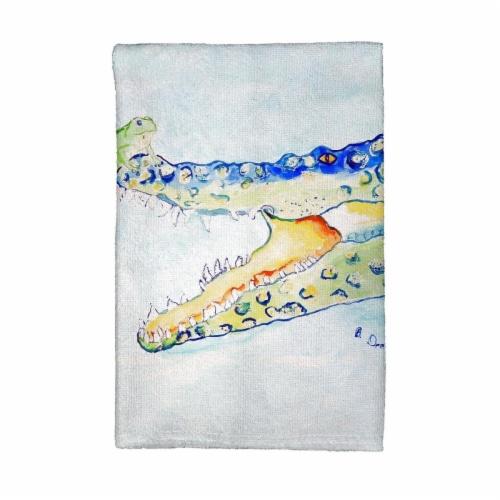 Betsy Drake KT1004 Croc & Frog Kitchen Towel Perspective: front