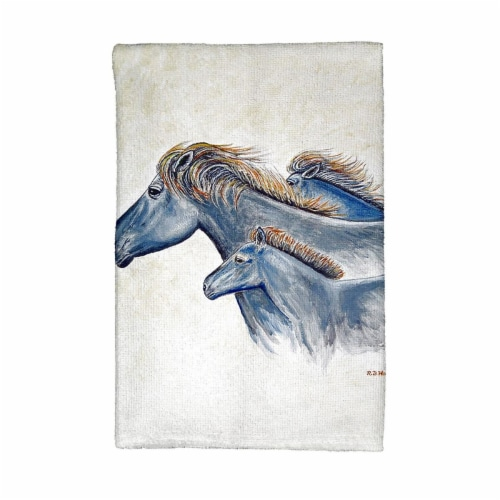 Betsy Drake KT1019 Wild Horses Kitchen Towel Perspective: front