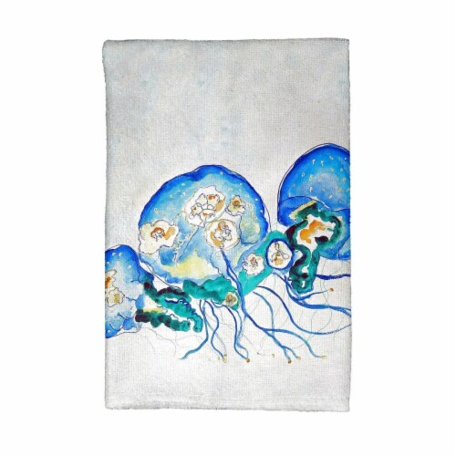 Betsy Drake KT1020 Multi-Jellyfish Kitchen Towel Perspective: front