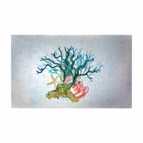 Betsy Drake DM1092G 30 x 50 in. Starfish Coral Shells Door Mat - Large Perspective: front